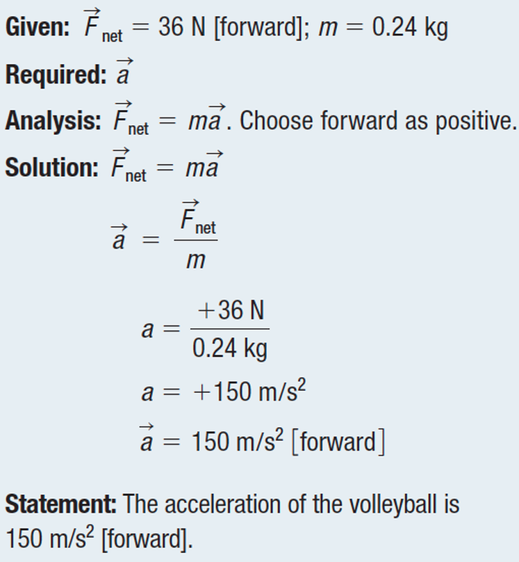 net force and acceleration relationship goals